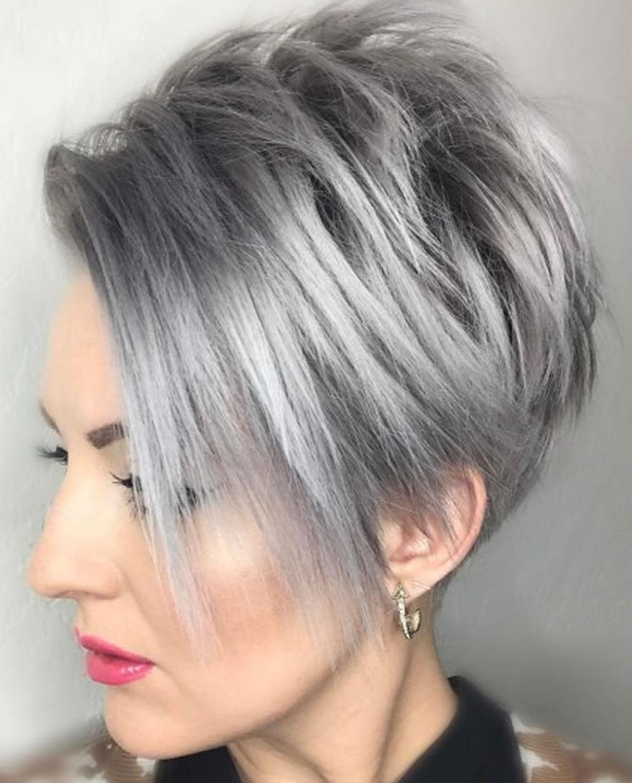 Grey Pixie Hair Cut & Gray Hair Colors for Short Hair 10 - Fashionre