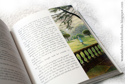 The Secret Garden, illustrated by Inga Moore, Mary in the garden