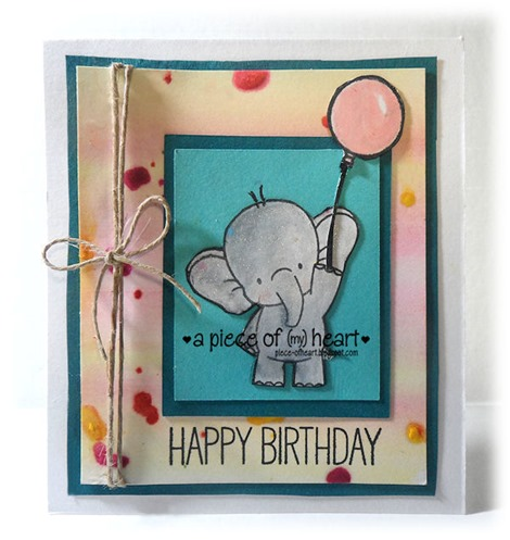 Happy Birthday Elephant-mixed media_apieceofheartblog