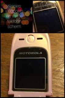 Krasjes wegpoetsen van je telefoonscherm
