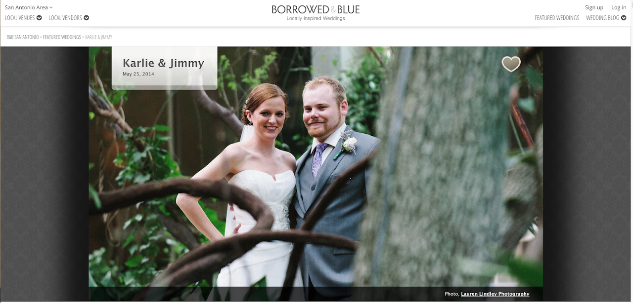 San Antonio Wedding published at Borrowed & Blue