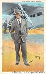 Will Rogers Postcard, mailed from Oklahoma to Indiana in 1942 by Peg Stull, to her sister, Rose Niehaus