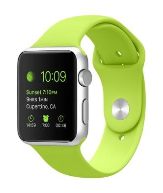 Apple Watch Sports グリーンバンド