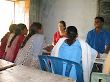 A PV interacts with local students