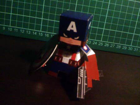 Captain America First Avenger Paper Toy