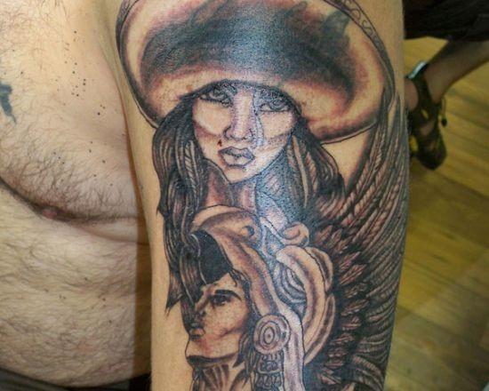 duas_faces_asteca_de_tatuagem_para_homens
