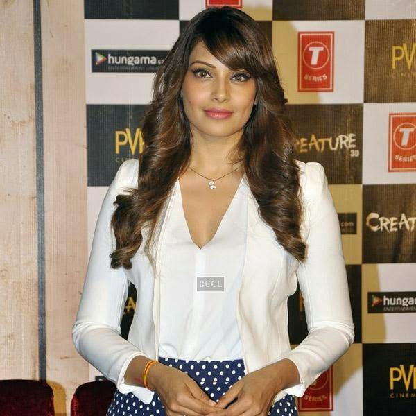 Bipasha Basu gets clicked during the trailer launch of Bollywood movie Creature 3D, held at PVR, on July 16, 2014.(Pic: Viral Bhayani)
