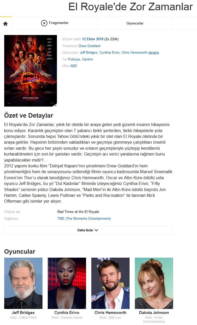 El Royalede Zor Zamanlar 2018 - 1080p 720p 480p - Türkçe Dublaj Tek Link indir