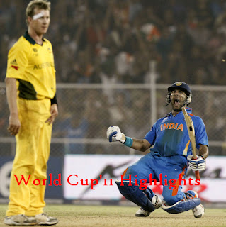 India v Australia – WCup'11, 2nd Quarter Finals -Highlights