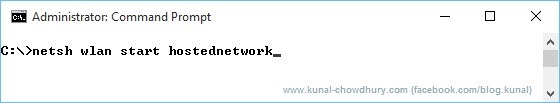 Start a hosted network (www.kunal-chowdhury.com)