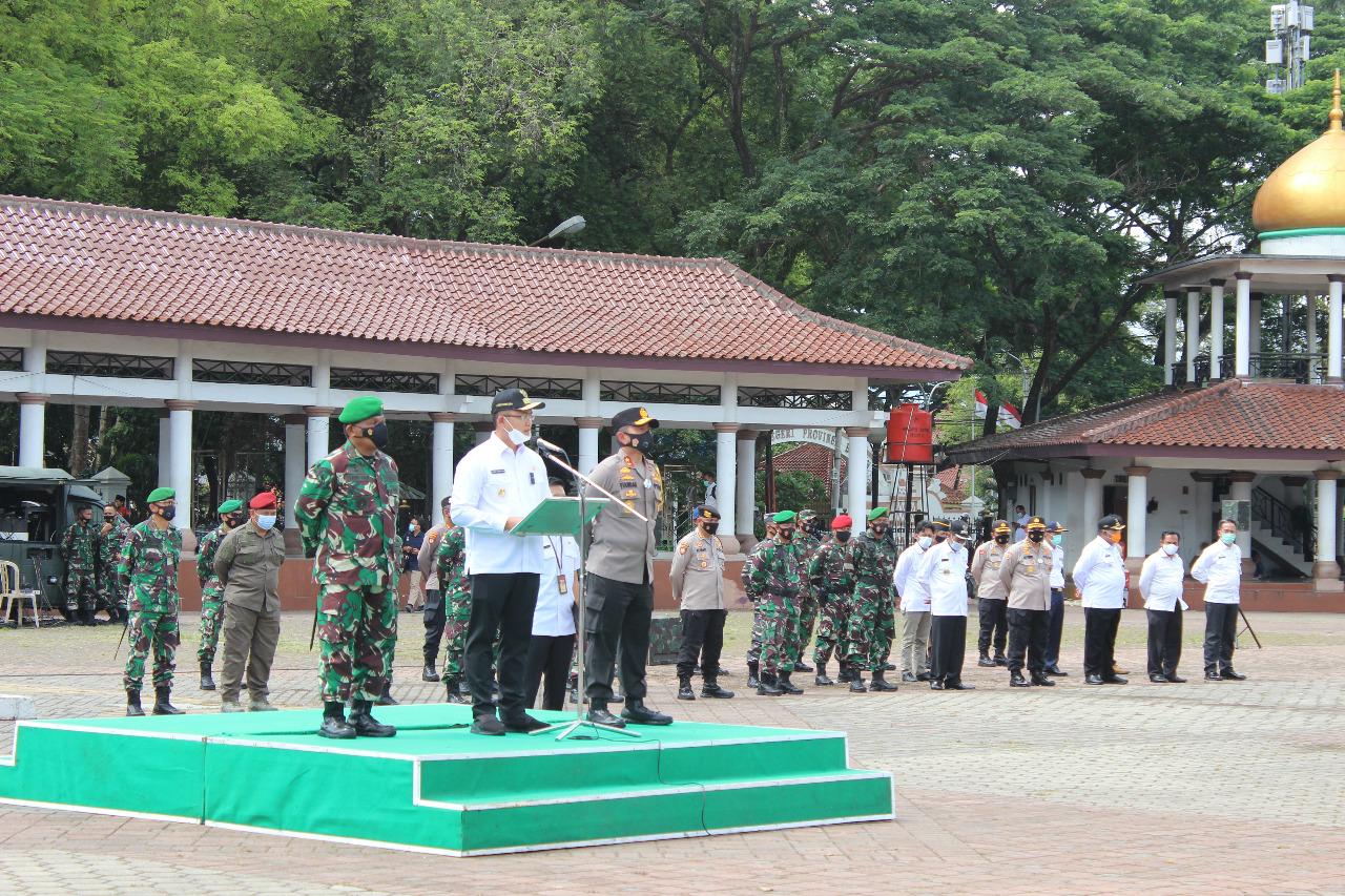Sinergitas TNI-Polri dan Pemda, Gelar Apel Kesiapsiagaan Pengamanan Pilkada Dengan Protokol Kesehatan di Masa Pandemi