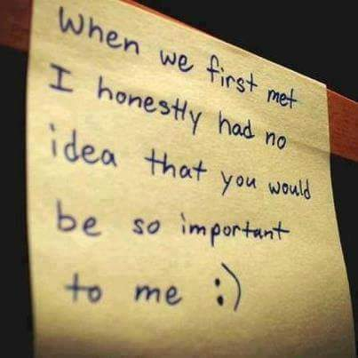 you will be important to me my love quote image