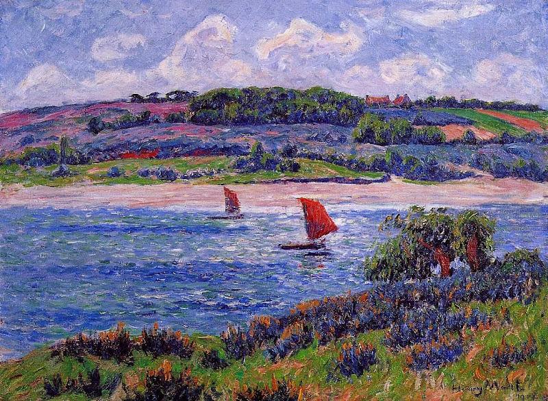 Henry Moret - Balon River, Fnistere, 1908