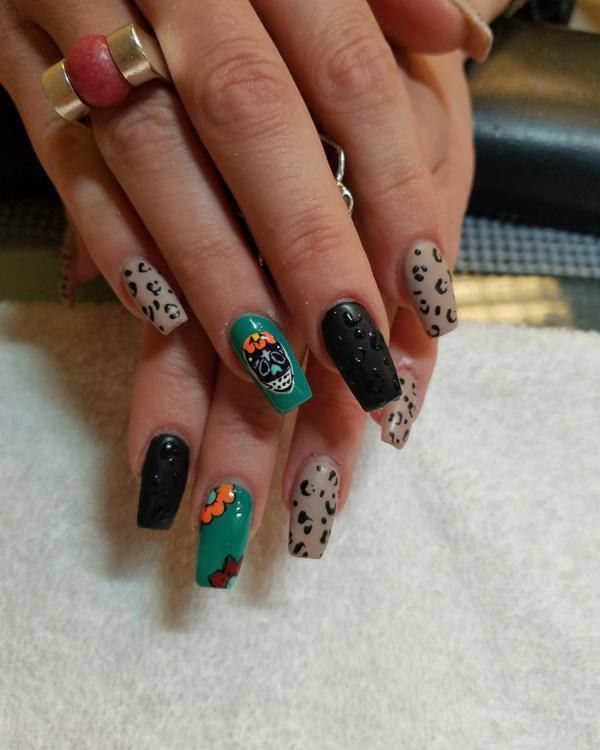 Best Sugar Skull Nail Art Designs For 2017 Styles Art