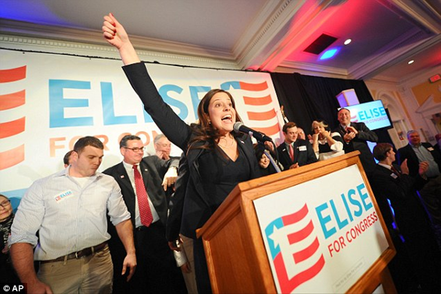 Youngest ever: New York in November 2014 elected the U.S. Congress's youngest female member ever -- 30-year-old Republican Elise Stefanik. Photo: Daily Mail