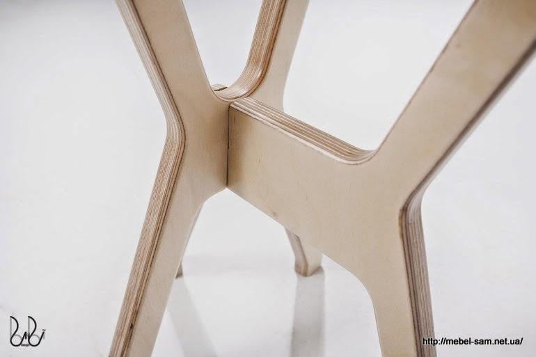 Стыковка ножек стула между собой - вид спереди