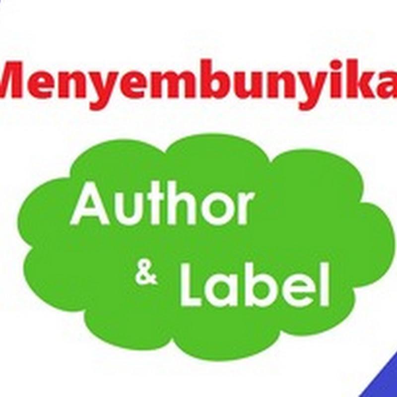 Menghilangkan nama author dan label atau kategori dari blog