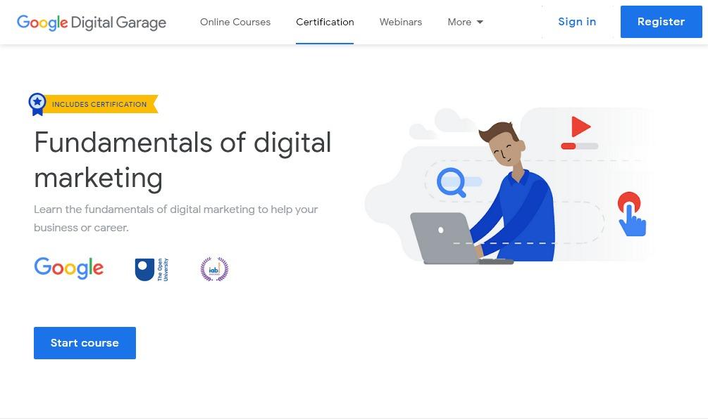 Google Digital Marketing Basics certification