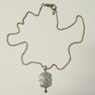 Diamond, 14K Gold & Sapphire Necklace