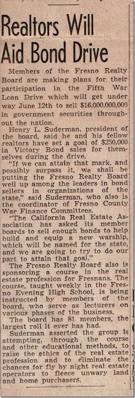 Page 2 Bond Drive Fresno Bee 23 Apr 1944