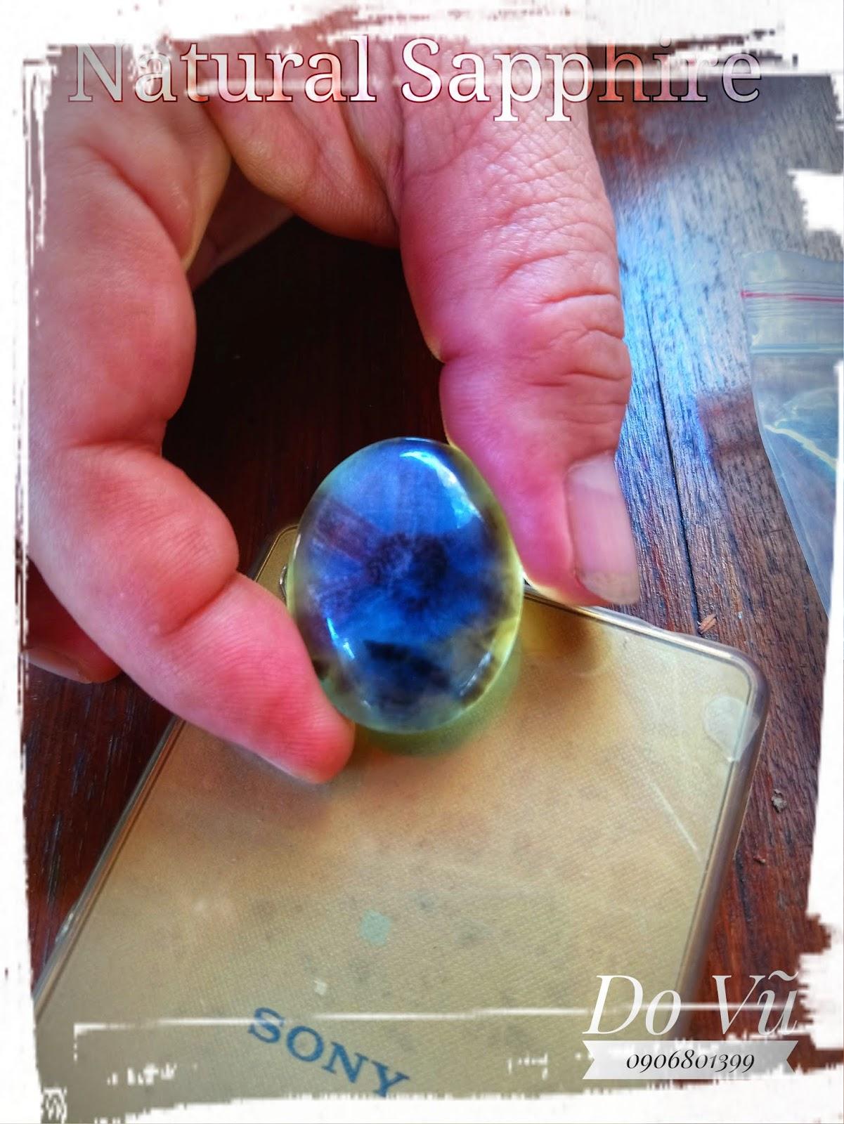 Đá quý Sapphire thiên nhiên, Natural Sapphire chất ngọc có hoa thị ( 17/04/20, 01 )