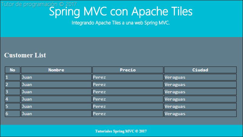 Integrar Apache Tiles a Spring MVC