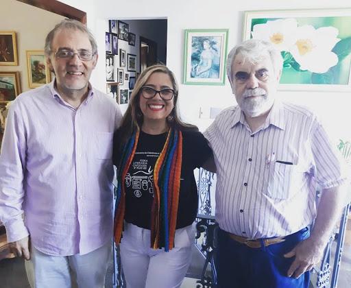 Um dia pra lá de especial, um almoço com os queridos escritores Marco Lucchesi e José Arrabal