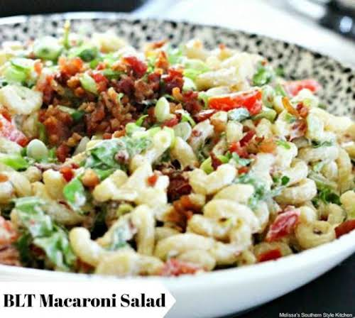 "Click Here for this Mac Salad Recipe: BLT Macaroni Salad ""This BLT..."