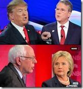 Trump, Bush, Bernie, Hillary debating