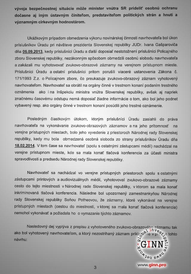 Žaloba GINN vs Robert Kaliňák a Ministerstvo vnútra, strana 3