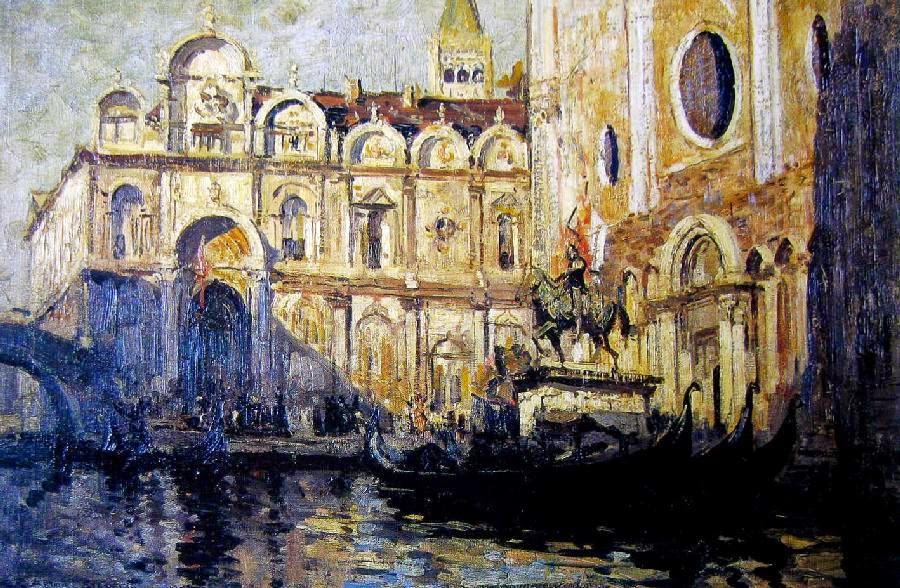 Arthur Streeton - Campo Santi Giovanni E Paolo, Venice 1908