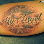 my angel bicep - tattoos for women