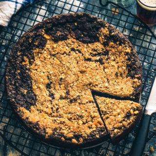 Easy Chocolate Mocha Coffee Cake Recipe with Walnut Streusel Topping Recipe