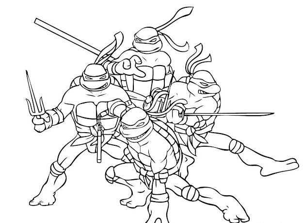 Download Coloring Pages Ninja Turtle Coloring Pages Tmnt Coloring Page  Teenage Mutant Ninja Turtles Coloring
