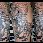 baby elephant - tattoos ideas