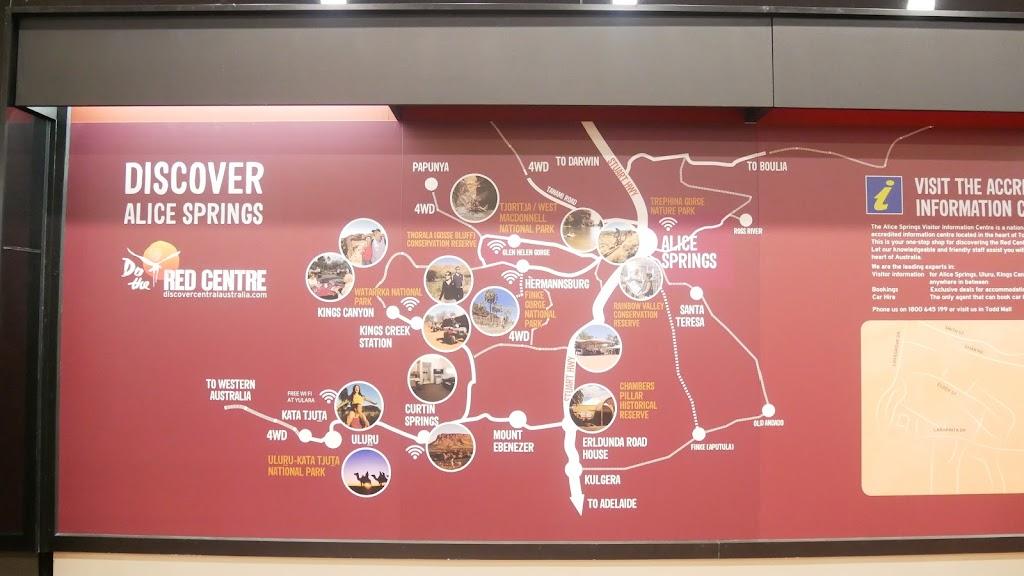 アリススプリングス観光マップ