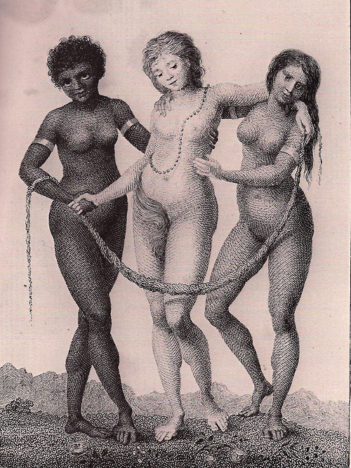 Europe Supported By Africa And America By William Blake C1792, William Blake
