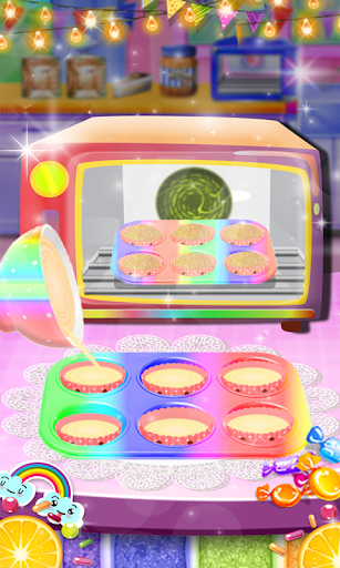 Unicorn Rainbow Cup Cake - Kids Cooking Game image | 4