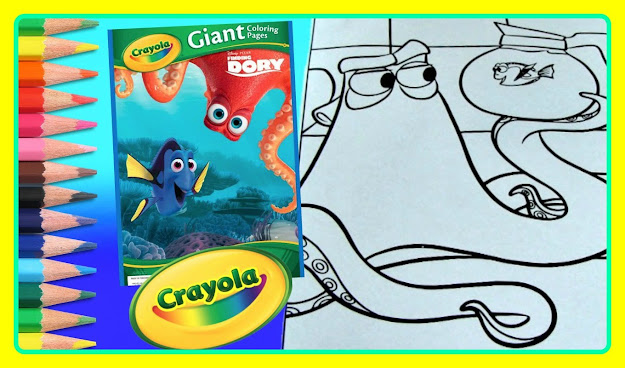 Finding Dory Crayola Giant Coloring Pages Finding Dory Coffee Pot With  Hank Fun Coloring For Kid