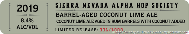 Sierra Nevada Barrel-Aged Coconut Lime Ale Coming To 2019 Alpha Hop Society