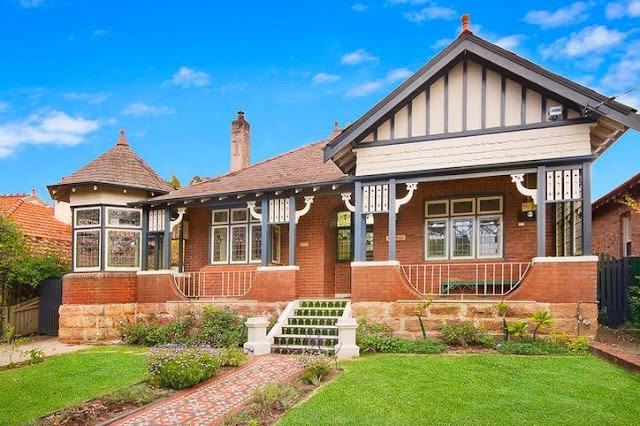 Heritage Listed 37 Dudley Street Haberfield with all front windows in leadlight