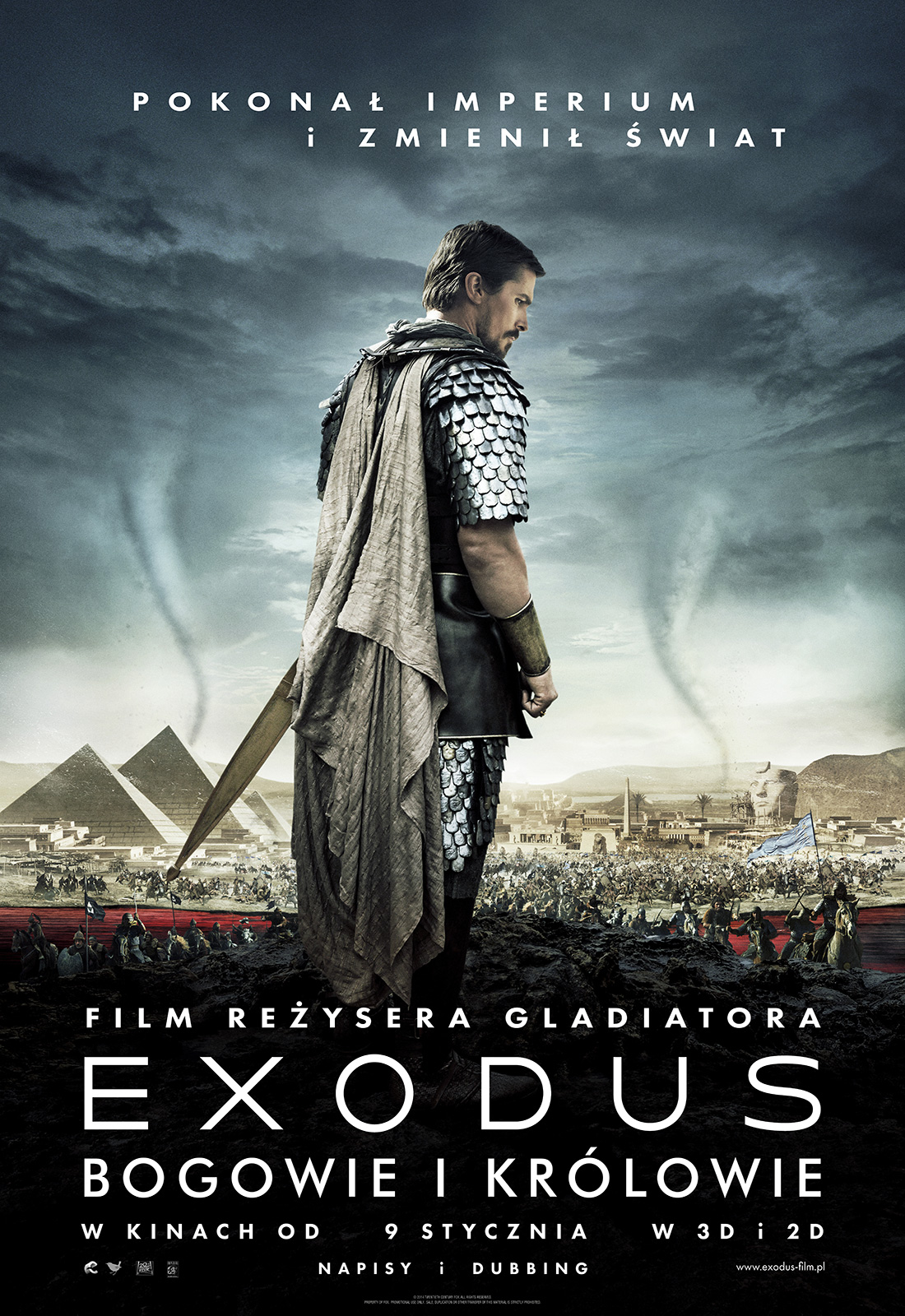 Polski plakat filmu 'Exodus: Bogowie i Królowie'