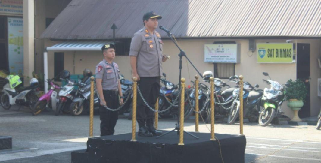 Jelang Pelantikan Presiden dan Wakil Presiden, Polres Soppeng Gelar Apel Pasukan Kesiapan Pengamanan