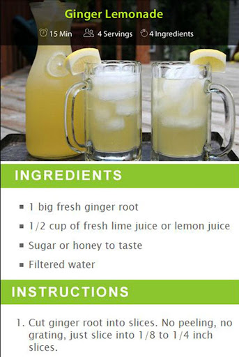 Ginger Drink Recipes screenshot 4