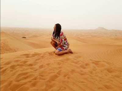 Juliet Ibrahim Poses In Dubai Desert