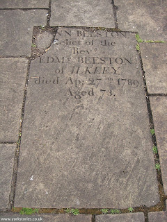 2012. Another of the grave slabs on the raised area. These were re-set here in the 1930s after the demolition of the church