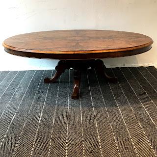 Burlwood Pedestal Cocktail Table