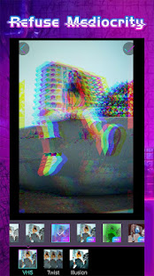 Glitchy - psychedelic camera & VHS art