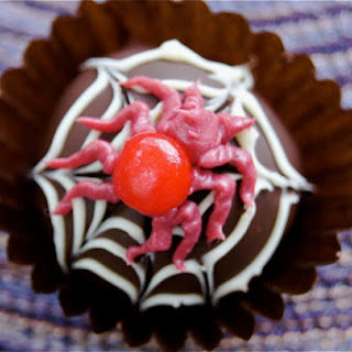 Spooky Spider Chocolate Truffles.