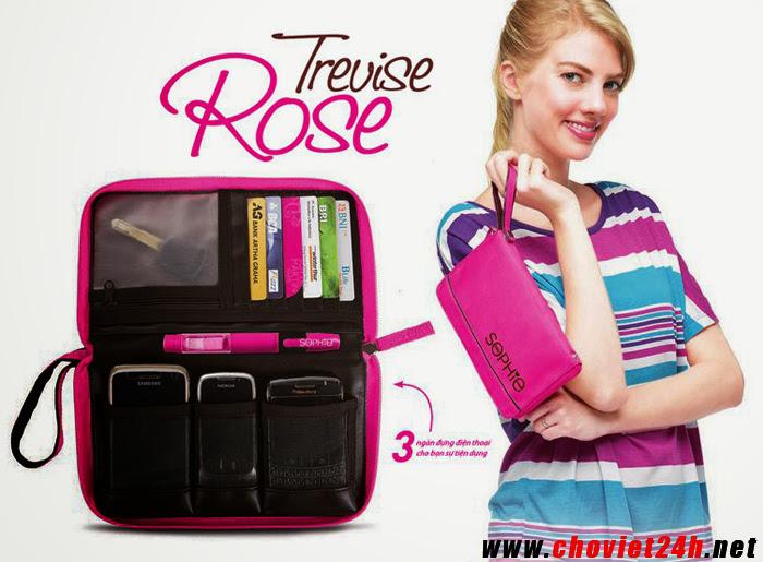 Ví đa dụng Sophie Trevise Rose - ML1117C